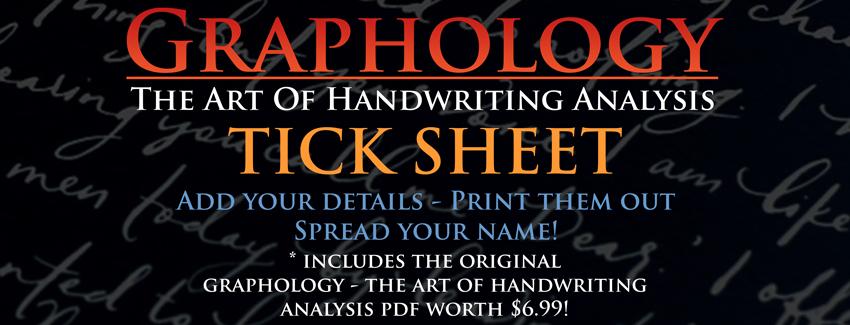 graphology tick sheet banner