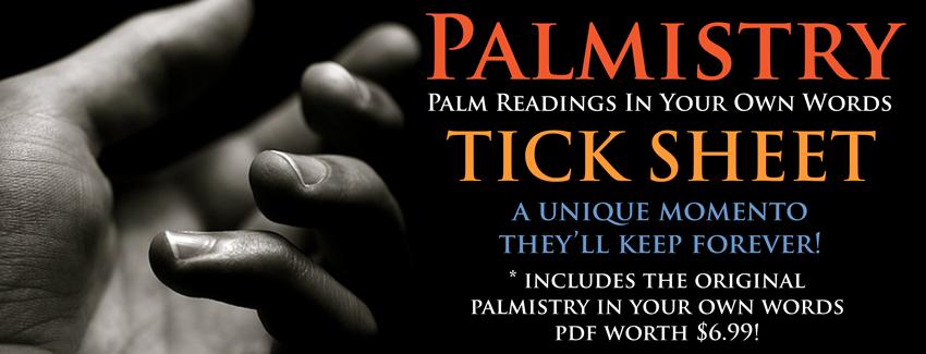 palmistry tick sheet banner